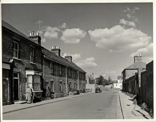 Cottages on the north side of Market Street in 1964 (8628)