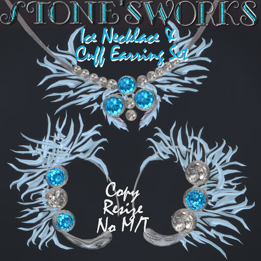 Ice Ear Cuffs & Necklace Set Stone's Works