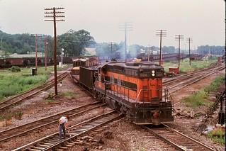 """B&LE 824 S @ """"XN"""" Shenango, PA 7/5/74"""
