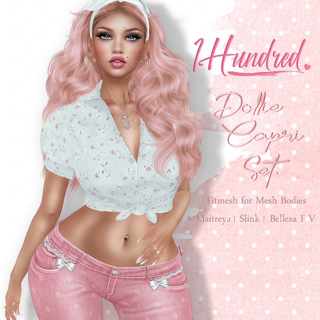 1 Hundred. Dollie Capri Set - TeleportHub.com Live!