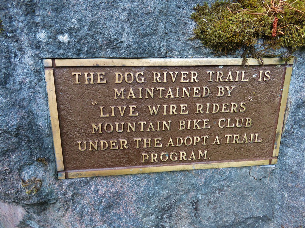 Plaque at the Dog River Trailhead