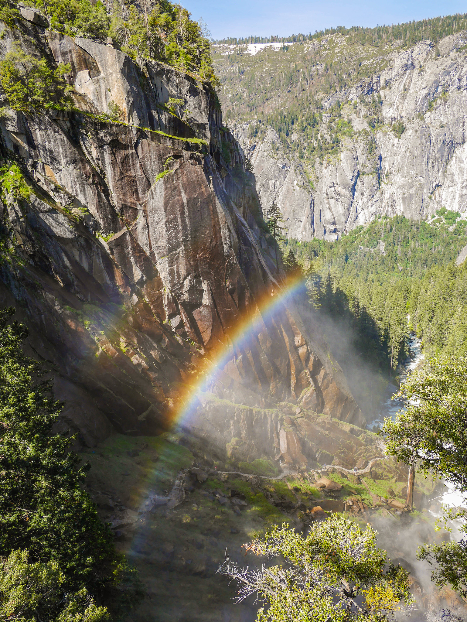 Double Rainbow below Vernal Falls on the Mist Trail