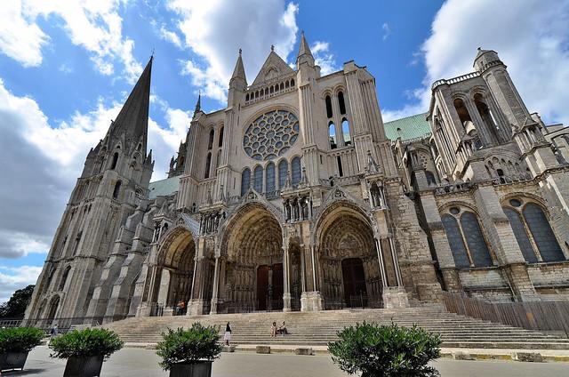 Chartres (Eure-et-Loir) - Cathédrale Notre-Dame - Façade sud