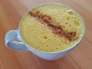 Turmeric Latte at Flora by Greenhouse
