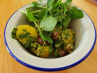 Pesto and Olive Potato Salad at Flora by Greenhouse West End