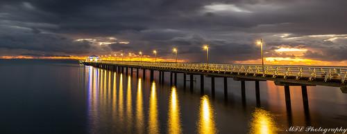 sigmalens sunrise sigma pier water shorncliffe landscape pentax panorama longexposure 1750 k5 brisbane queensland australia goldenhour