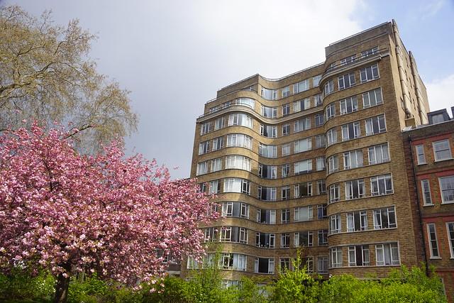 Hercule Poirot Home, Florin Court, Guy Morgan and Partners (Architects), Charterhouse Square, Borough of Islington, London