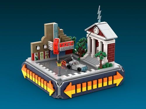 DeLorean Micro MOC