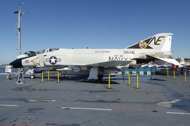 153030 / NE-101 McDonnell Douglas F-4N Phantom II cn 1557 US Navy. USS Midway - San Diego 22Feb19