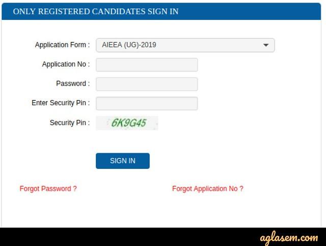 AIEEA UG/PG 2020 Application Form Correction