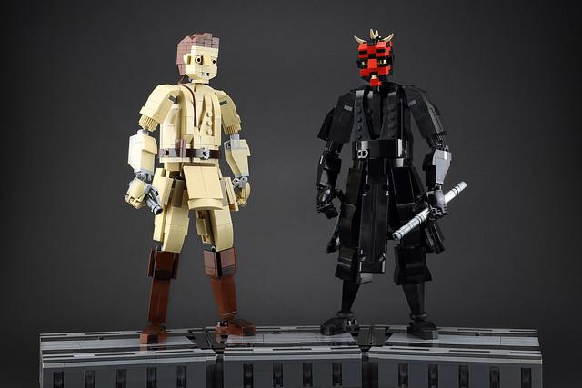 Obi-Wan and Darth Maul's lightsaber duel