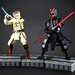 Obi-Wan and Darth Maul's lightsaber duel by LEGO 7