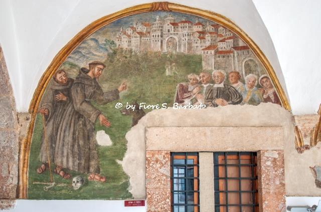 San Marco In Lamis (FG), Santuario di Maria SS. di Stignano, il chiostro.