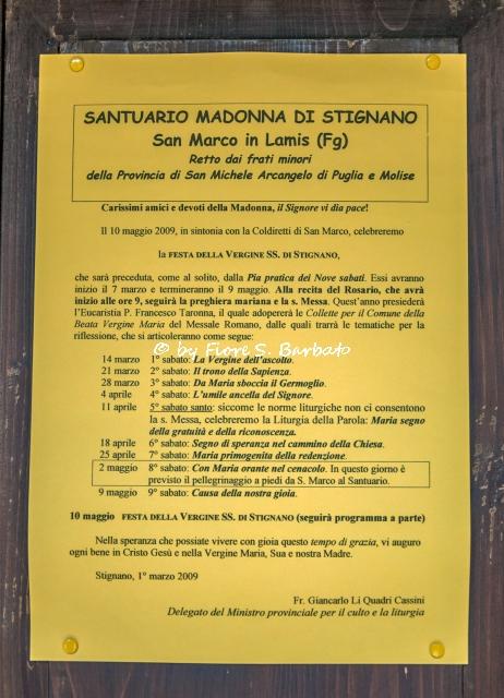 San Marco In Lamis (FG), Santuario di Maria SS. di Stignano.