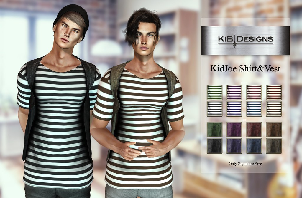 KiB Designs - KidJoe Shirt&Vest @Designer Showcase - TeleportHub.com Live!