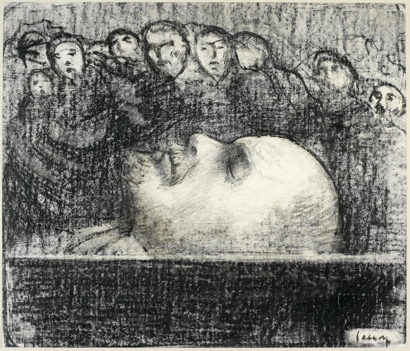 Эдуард Солтофт. В Мавзолее, 1924