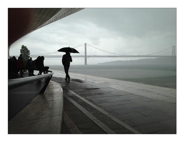 stormy, rainy Lisbon