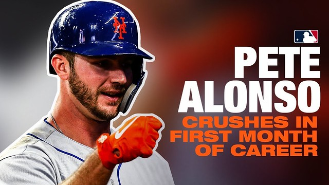 The Kid Crushes! Pete Alonso raked in his first MLB month (9 HRs)