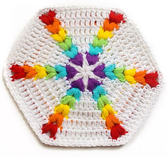 hexagon crochet pattern