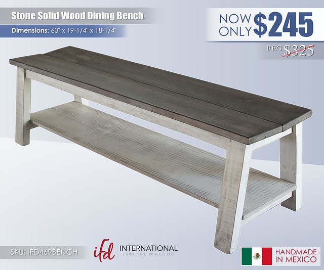 Stone Solid Wood Bench_IFD469BENCH