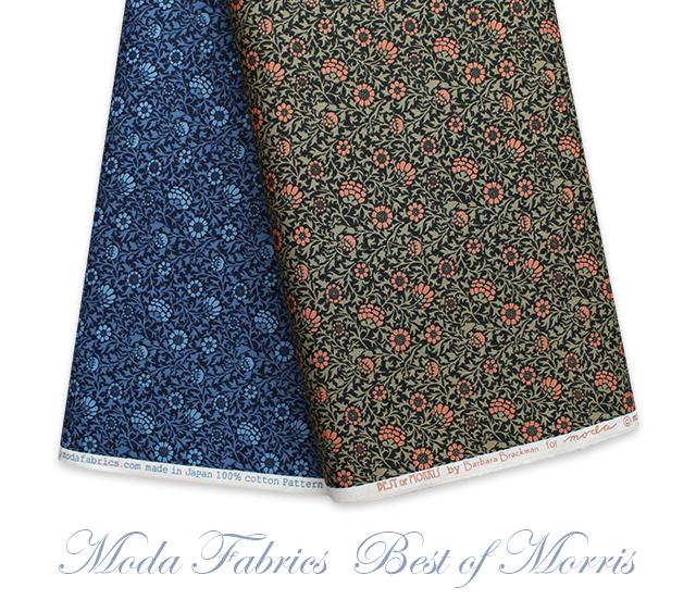 Moda Fabrics Best of Morris 8212-22 Grafton Black