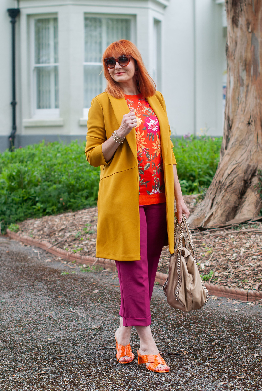Over 40 Style - All the Bold Colours for Spring/Summer (Yellow, Orange Florals and Magenta) | Not Dressed As Lamb, over 40 fashion blog