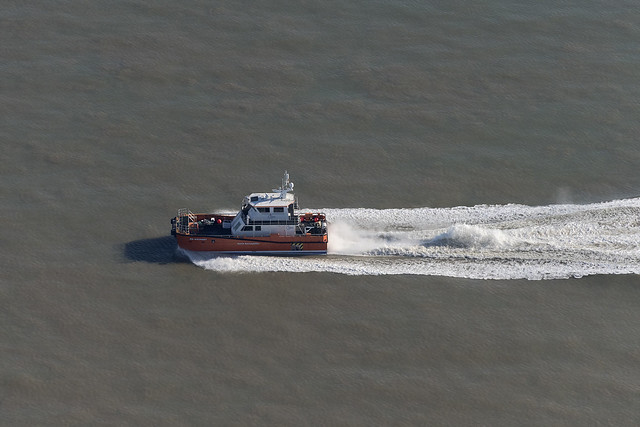 NSL Discovery - North Sea Logistics vessel - aerial image