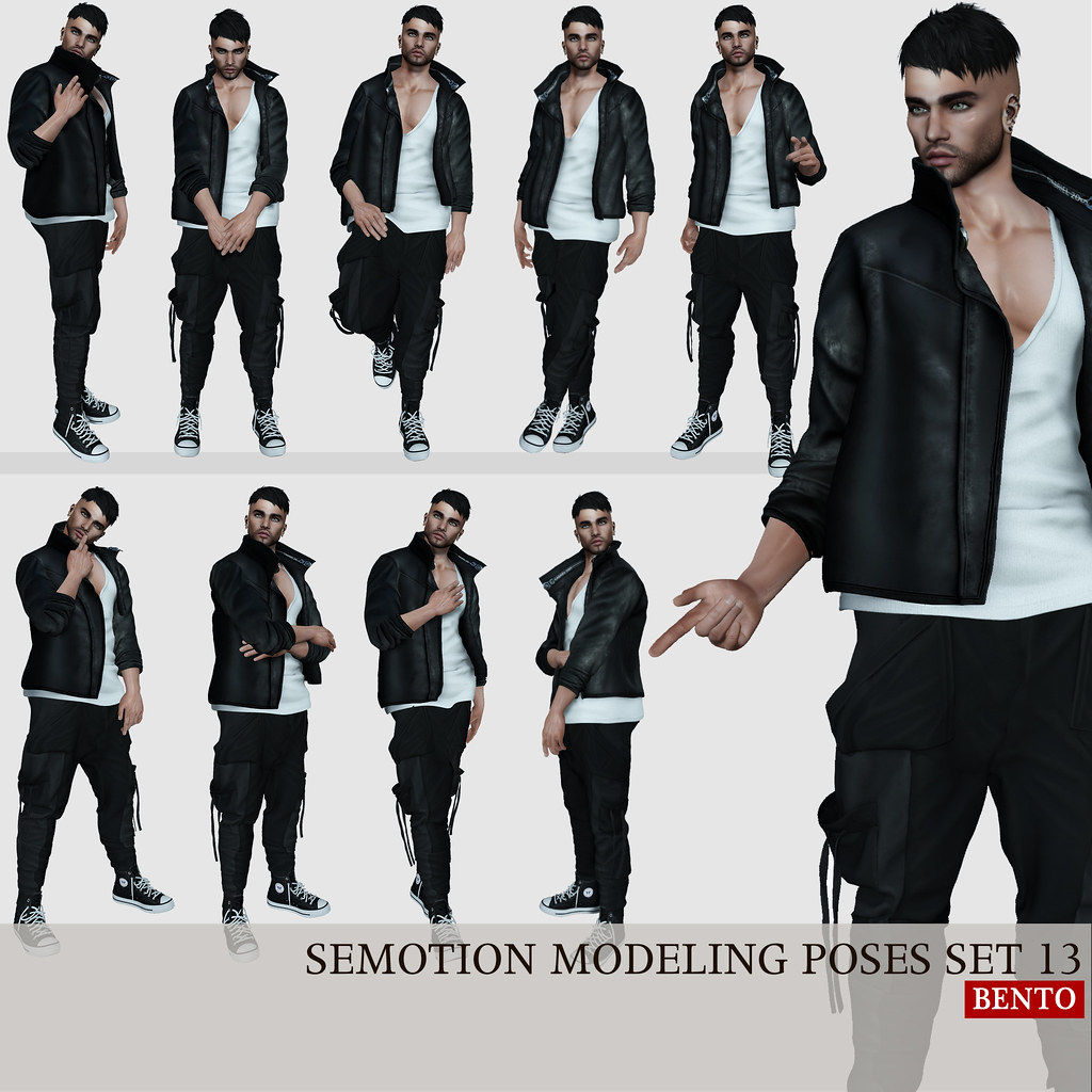 SEmotion Male Bento Modeling poses set 13
