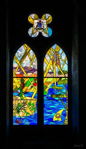 interiors newzealand southisland nelson christchurchcathedralnelson stainedglasswindow window