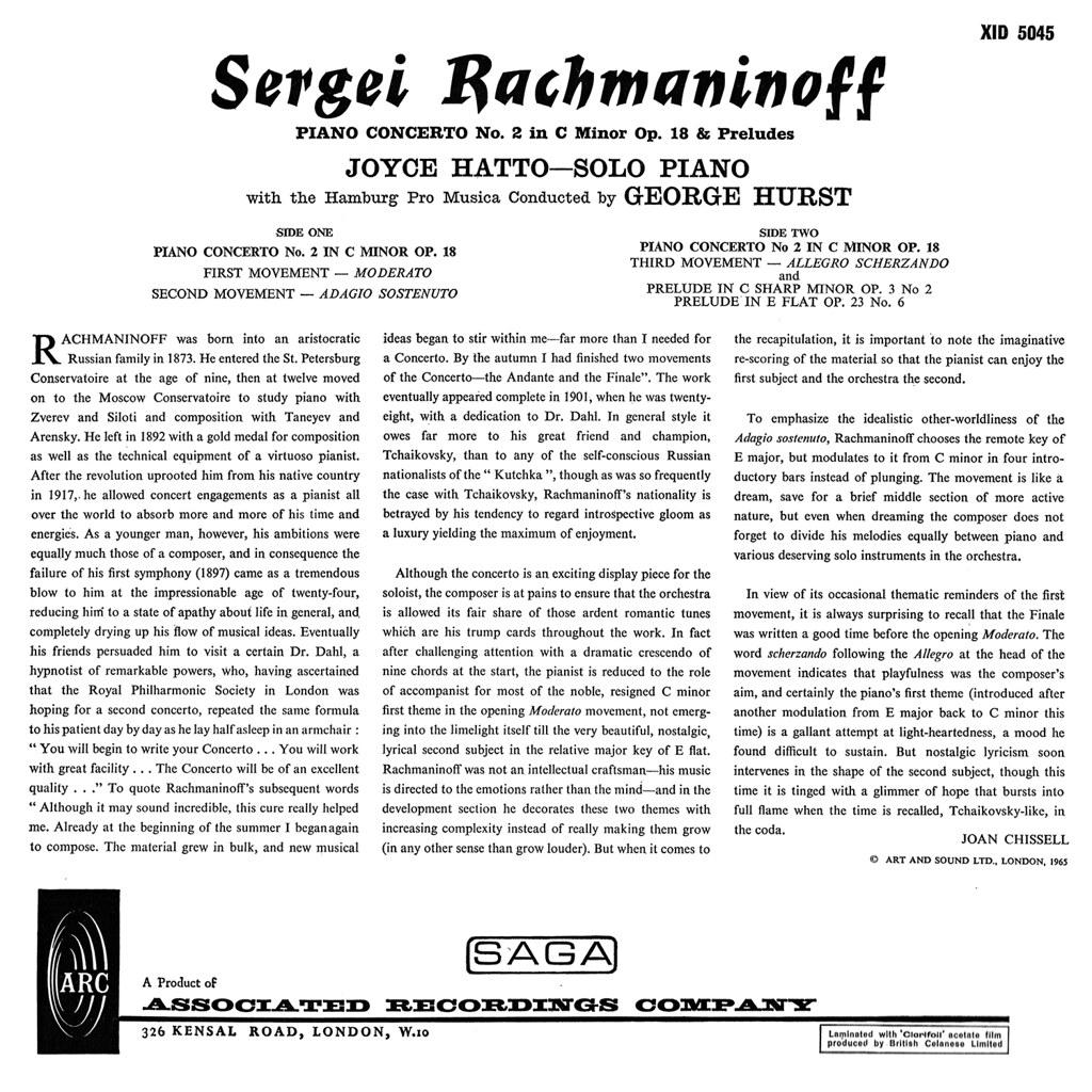 Sergei Rachmaninoff - Piano Concerto No 2 Preludes