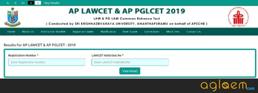 AP PGLCET 2020 Results, Rank Card