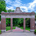 The Ohio University Alumni Gateway at the intersection of Court and Union Streets in Athens, Ohio by diana_robinson