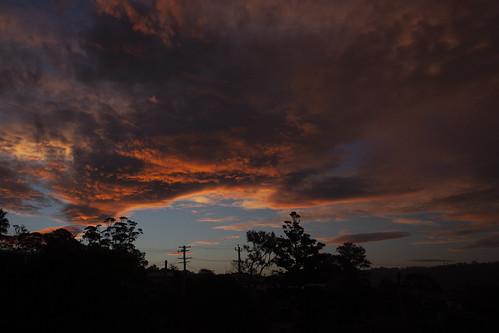 sunset sky weather clouds cloudsstormssunsetssunrises merimbula