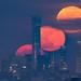 China Tower and Moon