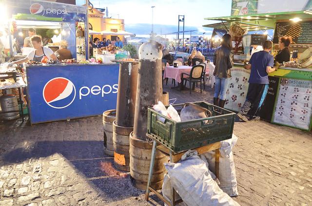 Chestnut stalls, Puerto de la Cruz, Tenerife