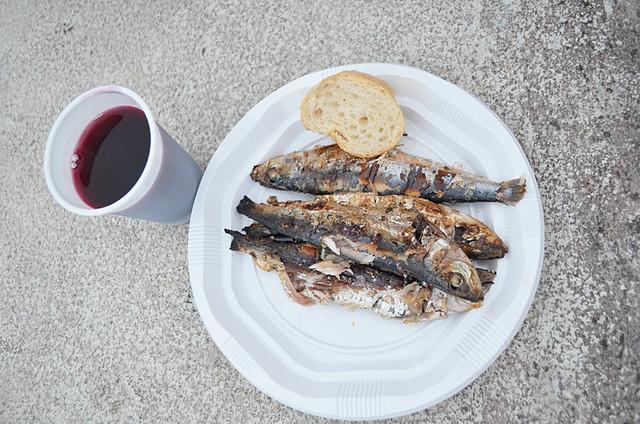 Sardines and wine, Puerto de la Cruz, Tenerife