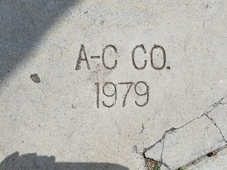 Contractor Sidewalk Stamp - A-C Co. - 1979