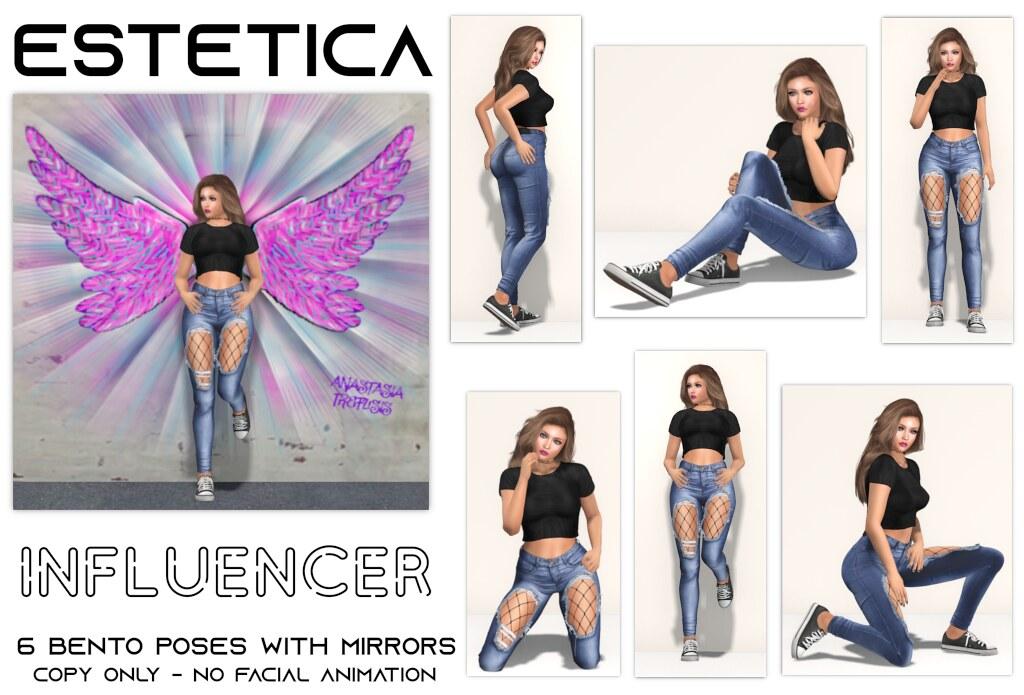 estetica: influencer Pose Fair Exclusive - TeleportHub.com Live!