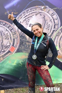 Claudia Mejia with her 2019 Spartan medal