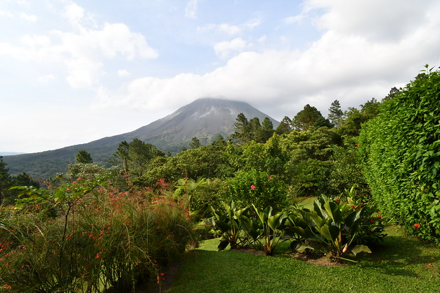 View from our back patio of Volcan Arenal. Costa Rica - April 2019 (Arenal Observatory Lodge).