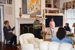 2019 Scholarship Tea--Elaine Raffety, Marlene Gordon, Alyce Conlon, Marilyn Shteir_0017