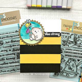 bee strong by Amy Tsuruta for  To Bee or not to bee hop