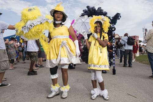 Baby Doll Kit / Baby Dolls at Jazz Fest day 6 on May 3, 2019. Photo by Ryan Hodgson-Rigsbee RHRphoto.com