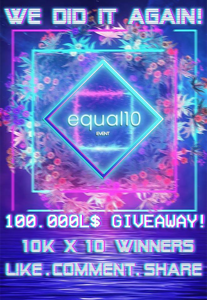 equal10 - 100k giveaway on facebook - TeleportHub.com Live!