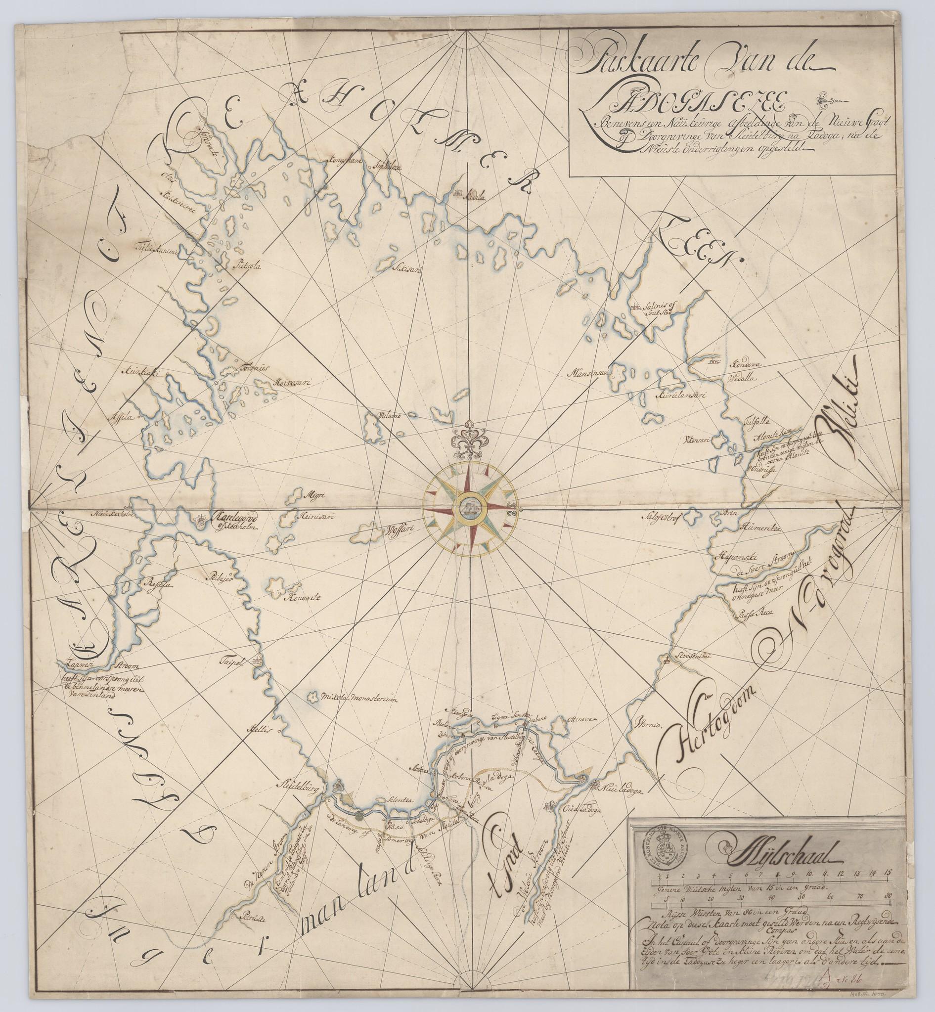 1700-е. Паспортная карта Ладожского моря