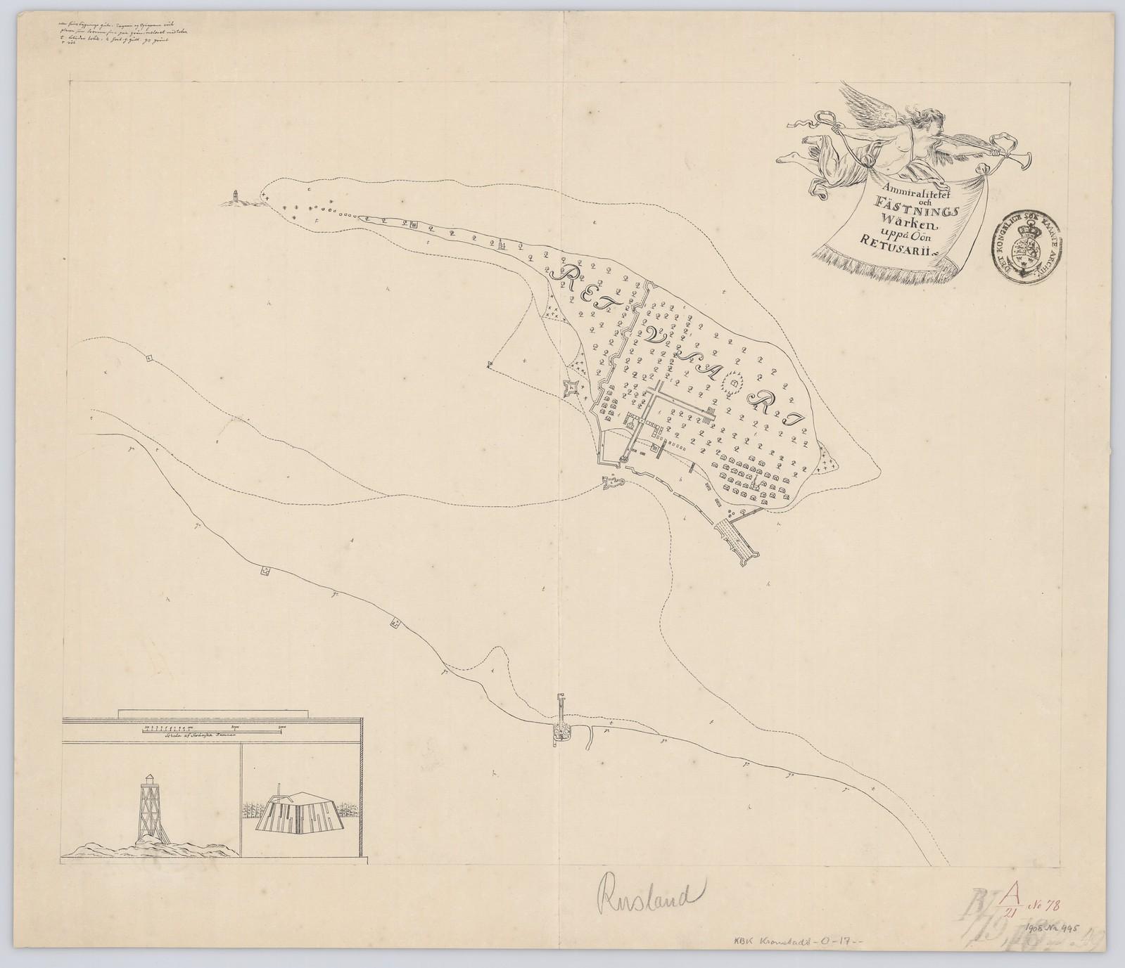 1700. Адмиралтейство и крепость Варкен на острове Ретусарии