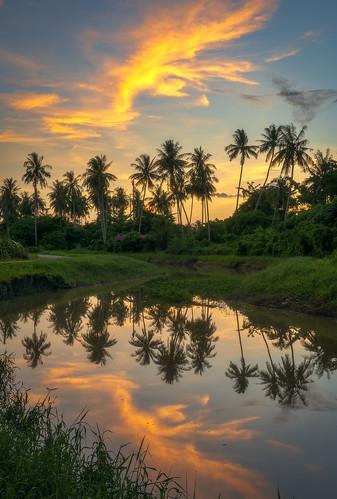 sony1635mmf4 sonya7rii georgetownpenang penang penangisland balikpulau reflections sunset