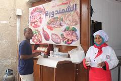 Amal in her restaurant. Photo by WorldFish