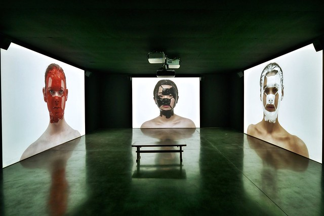 "Tatsuo Miyajima ""Counter Skin on Faces"""