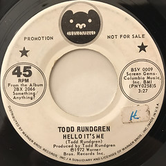 TODD RUNDGREN:HELLO IT'S ME(LABEL SIDE-A)